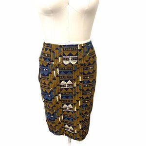 LULAROE Cassie Aztec Pencil Skirt, Medium  NWT